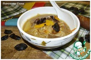 Рецепт Суп овощной с черносливом и кешью
