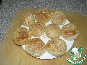 Рецепт Вкусные булочки с колбасным сыром