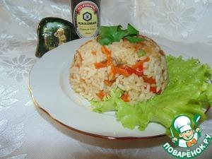Рис с соевым соусом и овощами простой пошаговый рецепт с фото
