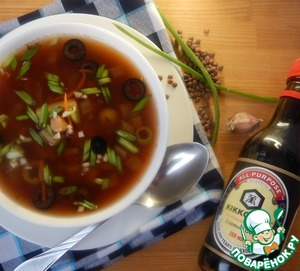 Суп из чечевицы с оливками