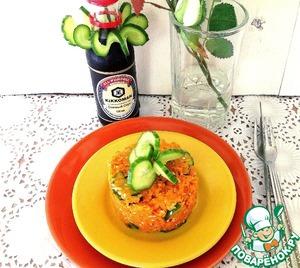 Рецепт Пряный морковный салат с огурцом