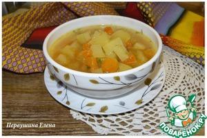 Рецепт Суп тыквенно-картофельный с имбирем