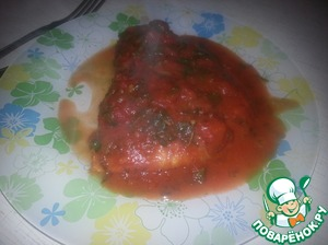 Рецепт Куриные грудки под томатным соусом