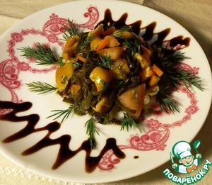 Рецепт Салат с морской капустой и грибами