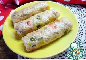 """Рецепт """"Спринг-роллы"""" овощные с рисом"""