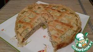 Рецепт Пирог с курицей и сливочным сыром