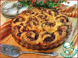 Рецепт Клюквенные булочки-пирог