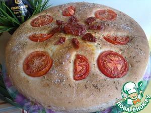 Рецепт Постный хлеб с помидорами и розмарином