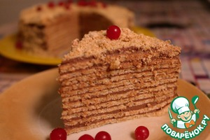 Рецепт Вафельный торт диетический