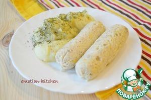 Рецепт Куриные сосиски с сыром