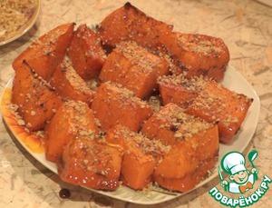 Рецепт Карамельно-пикантная запеченная тыква