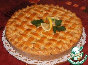 Рецепт Пирог с форелью и сыром