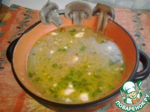 Рецепт Грибной суп-крем с плавленным сыром