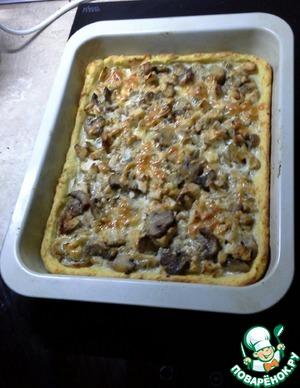 Рецепт Картофельный пирог с курицей и шампиньонами