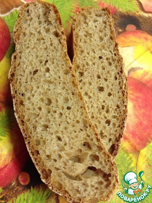 Рецепт Бездрожжевой хлеб из цельнозерновой муки спельты