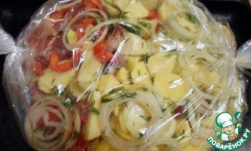 говядина с картошкой в духовке в пакете для запекания
