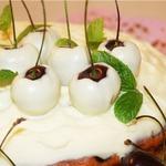 Вишнeво-черешневый пирог
