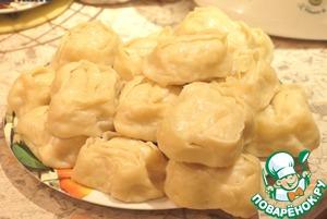 Рецепт Узбекские манты с фаршем из индейки