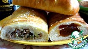 Рецепт Плетеные багеты с двумя начинками