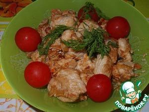 Рецепт Индюшачья грудка с овощами и сливками