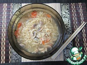 Рецепт Грибной суп-лапша по-студенчески