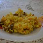 Грибной рис в мультиварке
