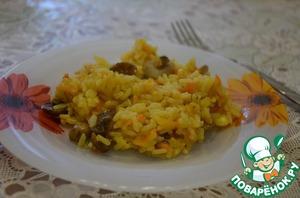 Рецепт Грибной рис в мультиварке