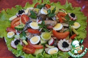 Рецепт Валлийский салат с грибами