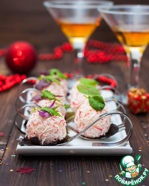 Рецепт Салат-закуска из крабово-сырных шариков