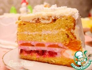 Рецепт Апельсиновый торт с вишней и мандаринами