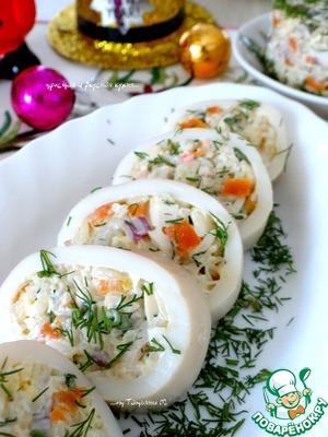 Рецепт Крабовый салат в кальмаре