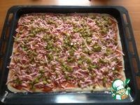 Пицца с жидким дрожжевым тестом ингредиенты
