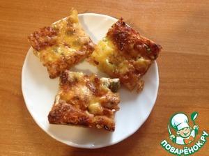 Рецепт Пицца с жидким дрожжевым тестом