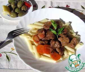 Рецепт Тушеная говядина в красном вине