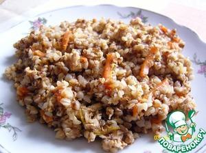 Рецепт Гречка с мясным фаршем и овощами