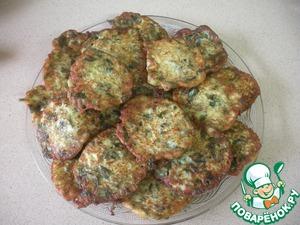 Рецепт Оладушки из кабачков со шпинатом