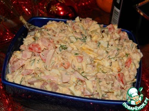 Праздничные салаты с ветчиной