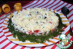 Рецепт Салат из риса и копченой курицы