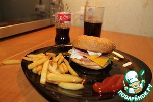 Рецепт Гамбургер с говяжьей котлетой