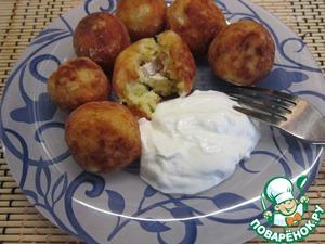 Рецепт Картофельные пончики с сюрпризом