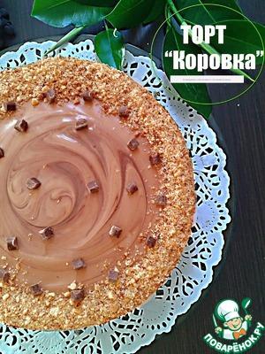 """Рецепт Арахисовый торт """"Коровка"""""""