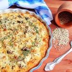Пирог с цветной капустой и шампиньонами