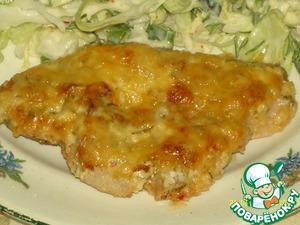 Рецепт Маринованная грудка индейки под сырной корочкой