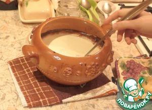 Рецепт Домашнее топленое молоко