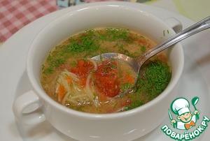 Рецепт Томатный суп с лапшой