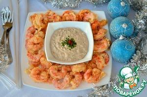 Рецепт Креветки в пивном кляре с соусом «Тар-тар»
