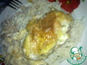 Рецепт Куриные бедрышки, запеченные с сыром