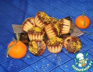 Рецепт Кокосовые кексы с мандаринами