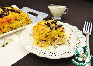 Рецепт Иранская рисовая запеканка с курицей и йогуртовым соусом