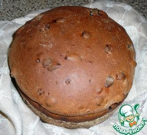 Рецепт Домашний хлеб с изюмом на закваске
